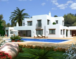 IBIZAN STYLE VILLA WITH GREAT VIEWS IN MORAIRA - UNDER CONSTRUCTION